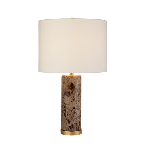 Brown Marble Cliff Table Lamp