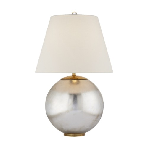 Morton Table Lamp in Burnished Silver Leaf