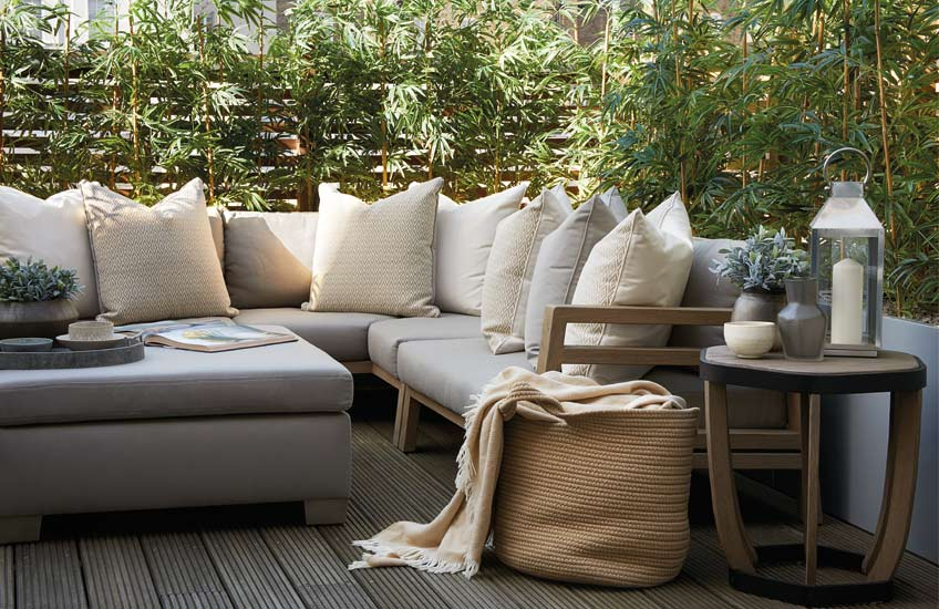 Transform Your Outdoor Space Into A Staycation Resort | Get the London townhouse terrace look at LuxDeco.com