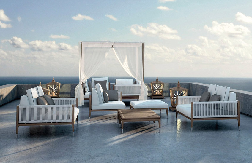 Transform Your Outdoor Space Into A Staycation Resort | Get the Amalfi Coast look at LuxDeco.com