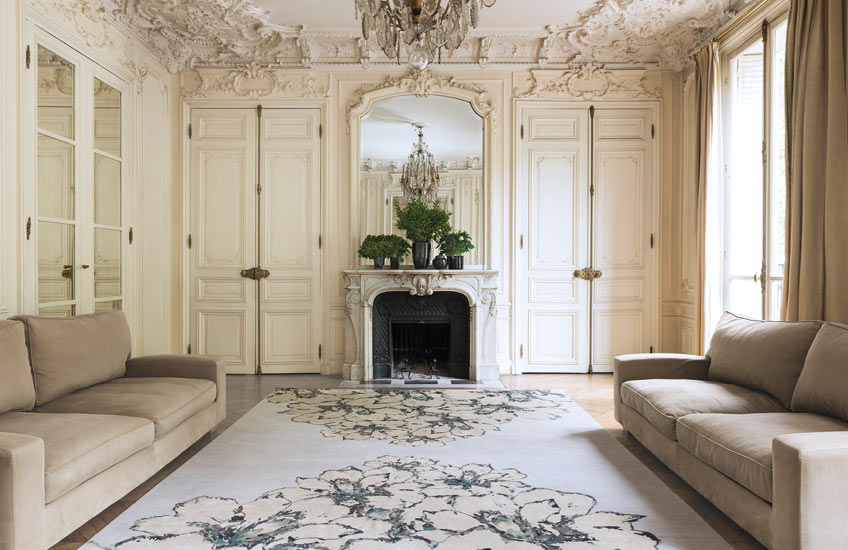 Behind The Brand | The Rug Company | In Bloom by Elie Saab | Shop the brand's luxury rugs at LuxDeco.com