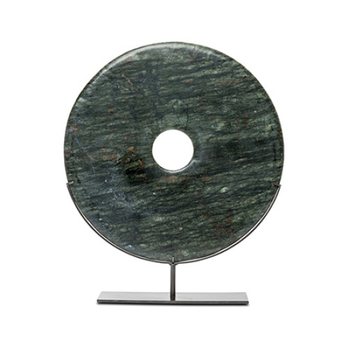 Large Green Marble Disc