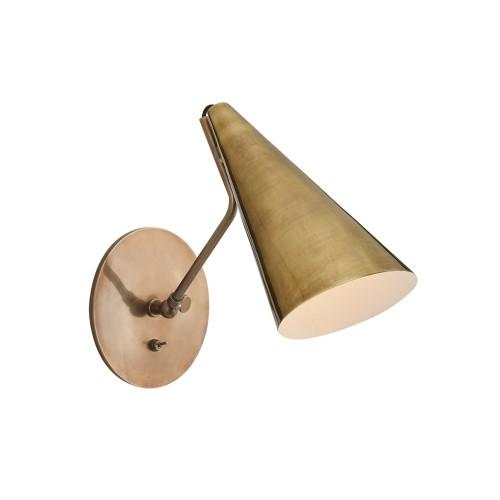 Clemente Wall Light - Brass Shade