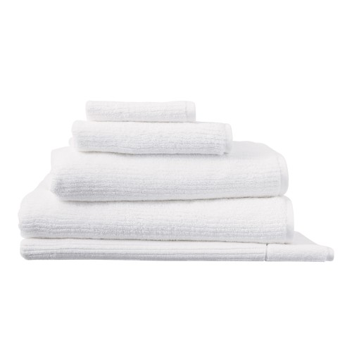 Living Textures Towels - White