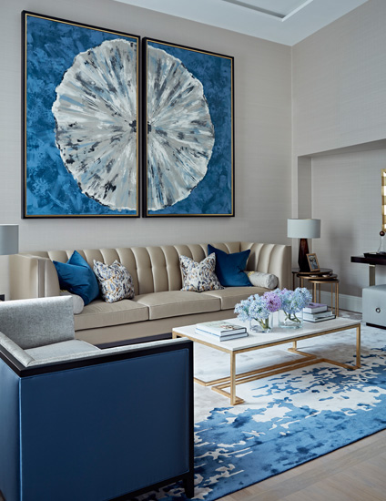 Taylor Howes Living Room | Cream and Blue Living Room Ideas | Read more in the LuxDeco.com Style Guide