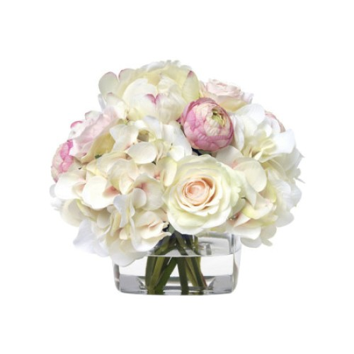 Pink and White Hydrangea Bouquet