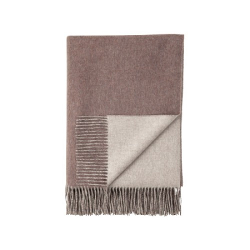 Cashmere Reversible Throw Heather