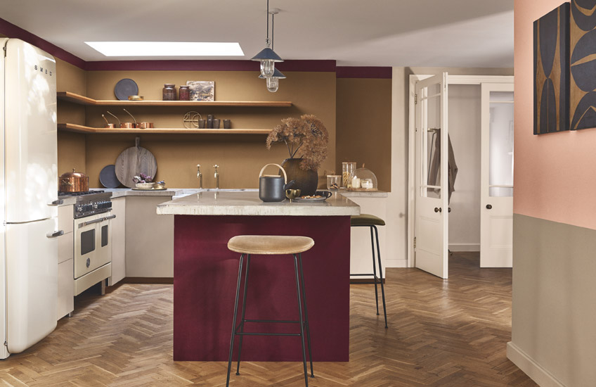 Dulux Colour of the Year | Spiced Honey Kitchen | Read more in the LuxDeco Style Guide