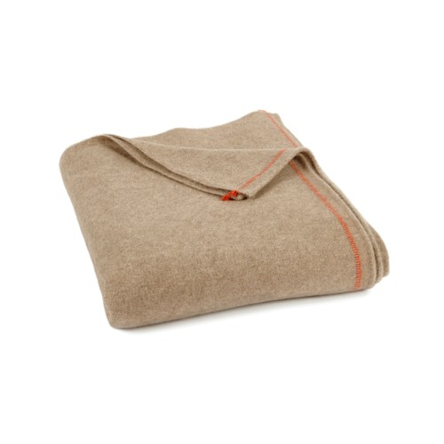 Sabra Cashmere Throw - Taupe