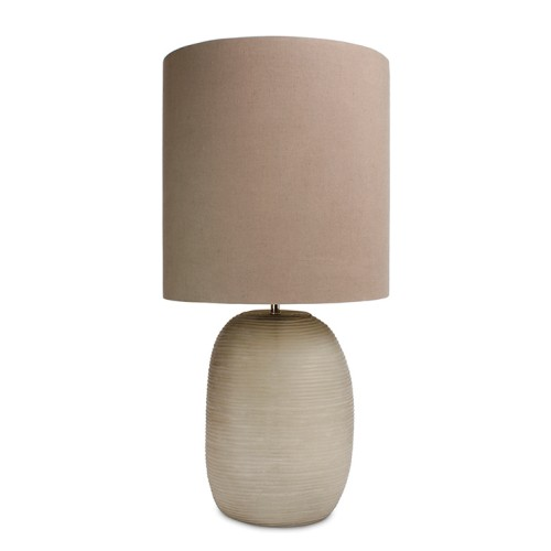 Tall Smoke Grey Patara Table Lamp