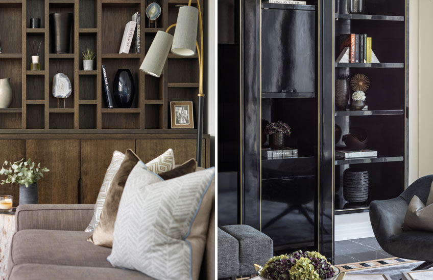 Living Room Storage Furniture Ideas | Left -Sophie Paterson; Right - Elicyon | Read more in the LuxDeco.com Style Guide