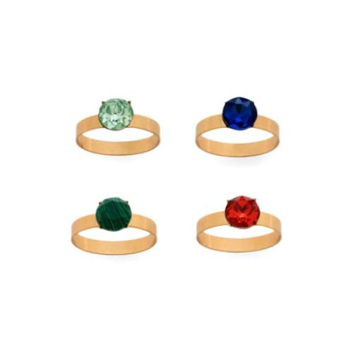 Skinny Gem Napkin Ring Set of 4