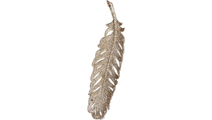 GLITTER FEATHER Christmas Tree bauble - Xmas tree Christmas decoration ornament - LuxDeco.com