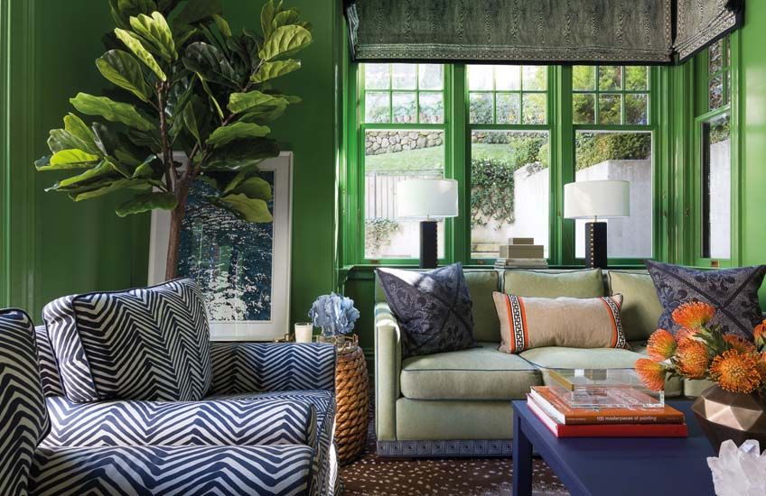 green living room ideas  how to decorate with green