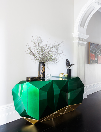 Green Living Room Ideas | How To Decorate With Green | Interior by Brendan Wong | Read more in the LuxDeco.com Style Guide
