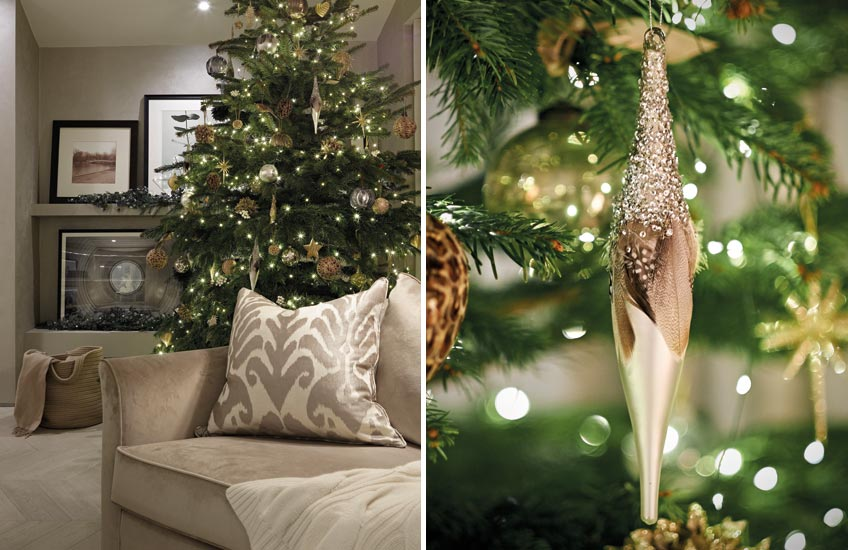 Christmas Colour Schemes |  Neutral Christmas Decor | Image courtesy of Laura Hammett | LuxDeco.com