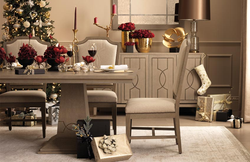 Christmas Colour Schemes | Red & Gold Christmas Decor | LuxDeco.com