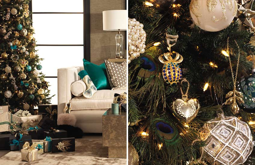 Christmas Colour Schemes |  Teal Christmas Decor | Shop the look at LuxDeco.com