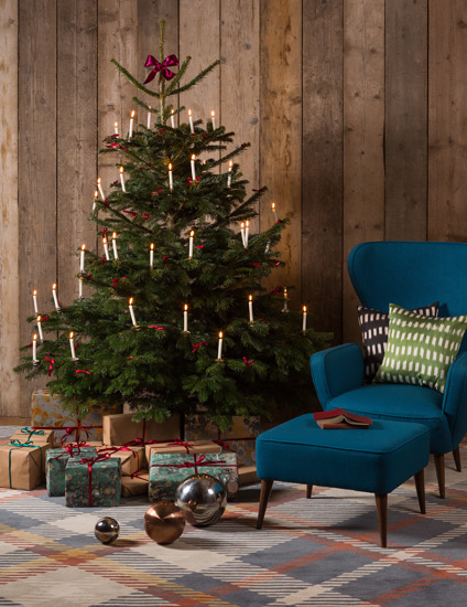 Christmas Colour Schemes |  Traditional Christmas Decor | Image courtesy of The Rug Company | Highland by Vivienne Westwood for The Rug Company | LuxDeco.com