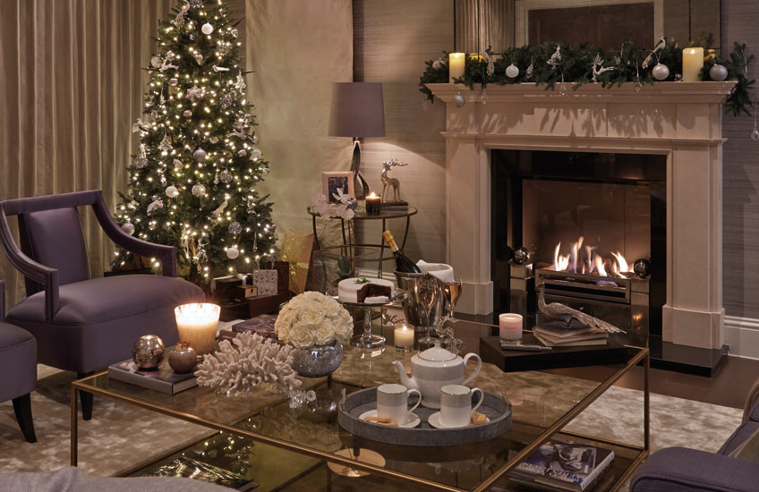 Christmas Colour Schemes |  Silver Christmas Decor | Sophie Paterson Living Room | LuxDeco.com