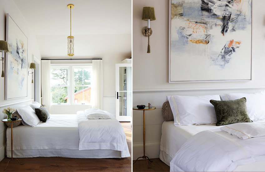 Headboard Alternatives | Interior and architecture by Chambers + Chambers; Photography by John Merkl | Read more in the LuxDeco Style Guide