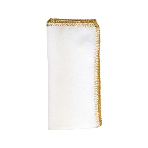 Crochet Edge Napkin - Gold
