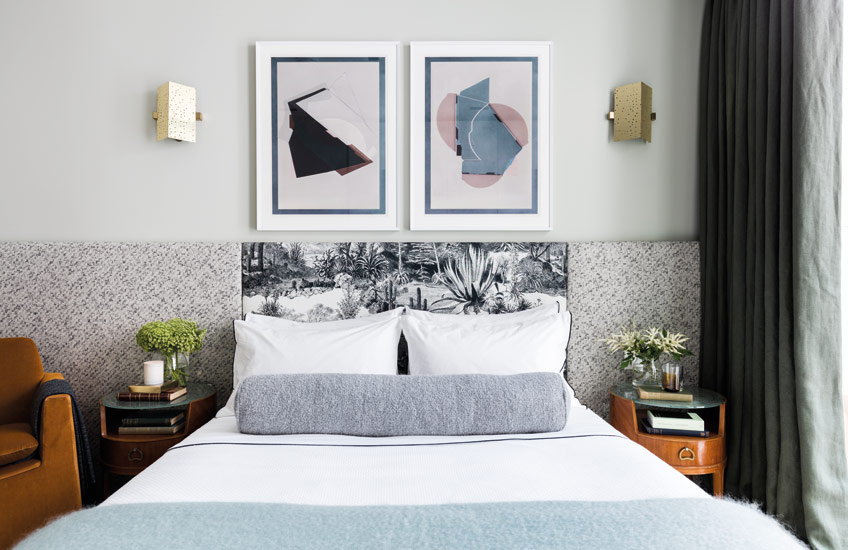 New Year, New Home | 8 Home Refresh Ideas for 2019 | Patterned Headboard | Bedroom interior by A.LONDON | Read more in the LuxDeco.com Style Guide