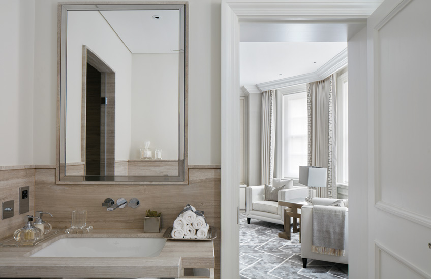 How To Declutter Your Home | Bathroom Interior by Katharine Pooley | Read more in the LuxDeco.com Style Guide