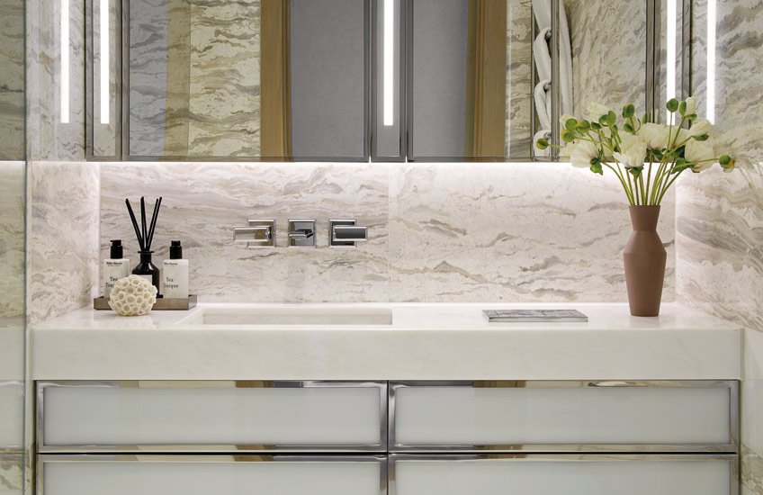How To Declutter Your Home | Bathroom Interior by Finchatton | Read more in the LuxDeco.com Style Guide