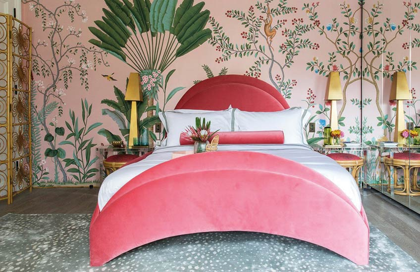 Pantone Colour of the Year 2019 | Living Coral | Holiday House London | Amelia Carter | Read more in the LuxDeco.com Style Guide