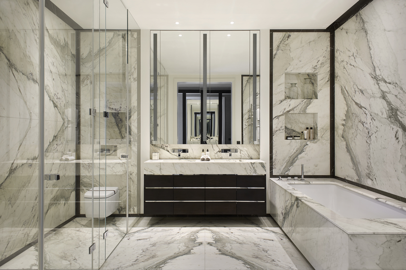 Ideas on How to Create a Contemporary Style Bathroom Design | Finchatton | Read more in the LuxDeco.com Style Guide