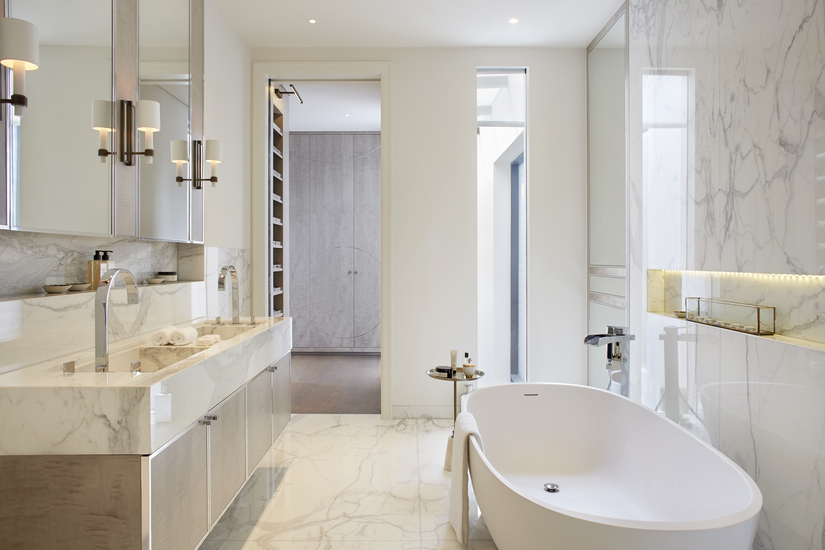 How to Create a Contemporary Style Bathroom Design | Ideas & Inspiration | Finchatton | Read more in the LuxDeco.com Style Guide