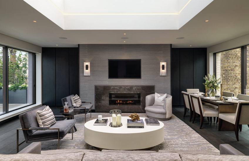 Masculine Grey Living Room | Finchatton | Read more in the LuxDeco Style Guide
