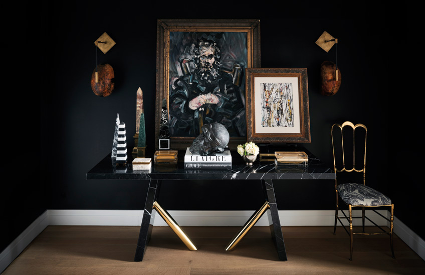 Black Living Room Ideas _ Carlyle Designs _ Black Furniture _ Read more in the LuxDeco.com Style Guide