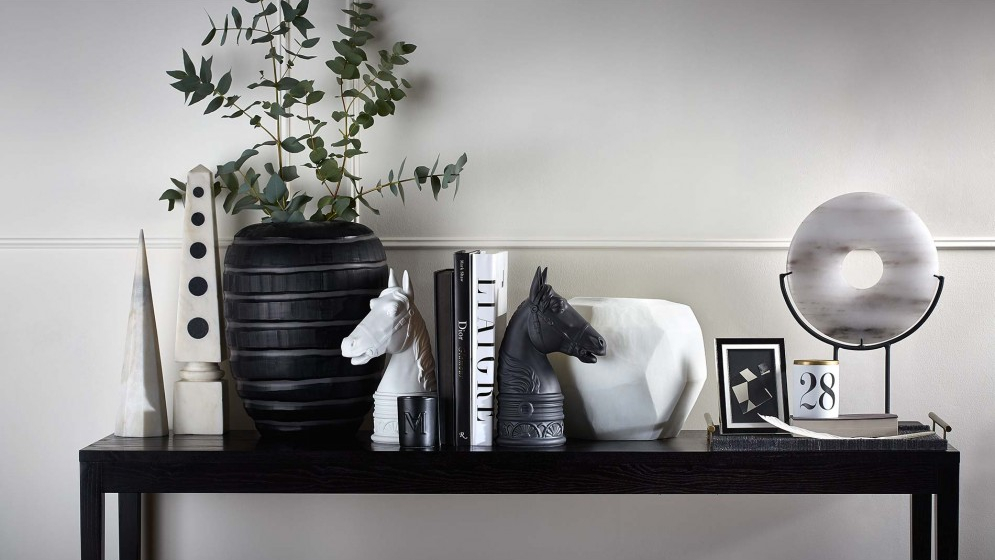 Black Living Room Ideas _ L'Objet _ Black Accessories _ Read more in the LuxDeco.com Style Guide
