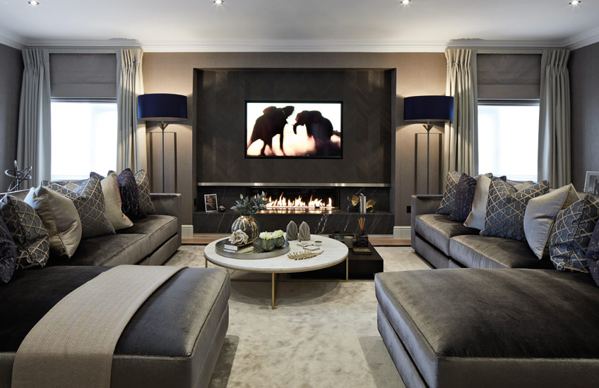 How To Choose The Perfect Rug For Your Living Room _ Bailey London _ Grey Living Room _ Read more in the LuxDeco.com Style Guide