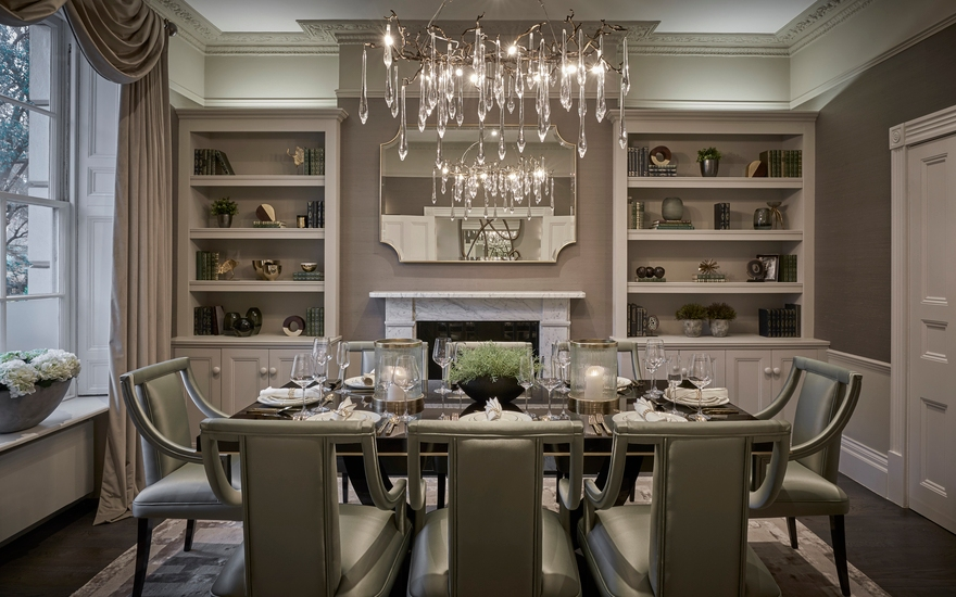 Alexander Square Dining Room - LuxDeco Interior Design Project - Interior Design Services - LuxDeco.com Style Guide