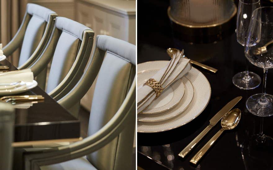 Alexander Square Dining Room Details - Interior Design Service Project - LuxDeco.com Style Guide