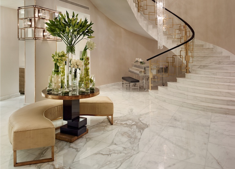 marble used in a home