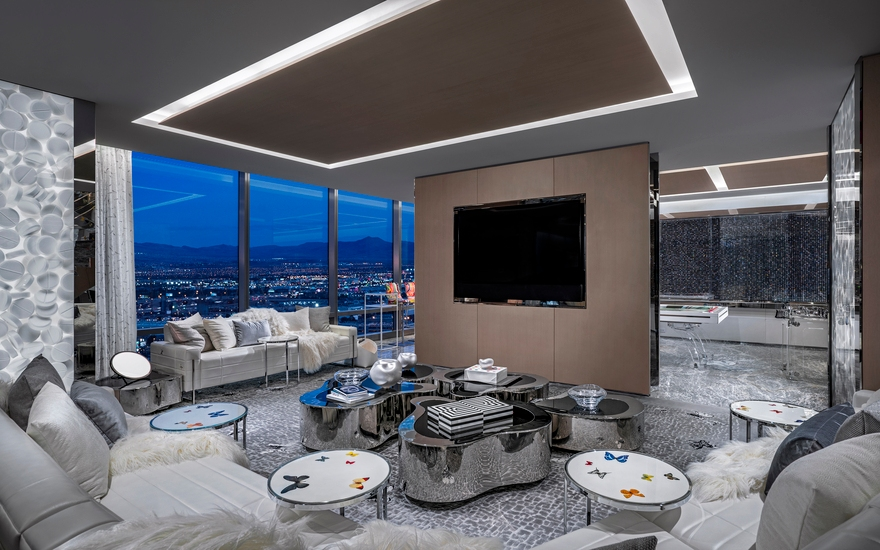 Empathy Suite - Palms Las Vegas - Designed by Damien Hirst - The Most Expensive Hotels Rooms Around the World - LuxDeco Style Guide